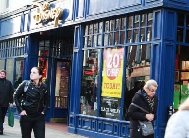 Disney Store on Grafton Street.