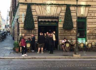 The Flann O'Brien Irish pub in Rome.