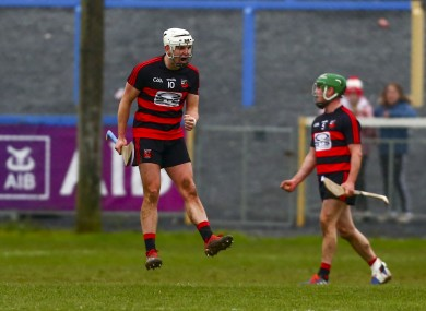 Ballygunner's Dessie Hutchinson celebrates at the end of the game.