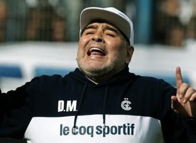 Diego Maradona (file pic).
