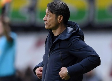 Niko Kovac pictured during today's game.