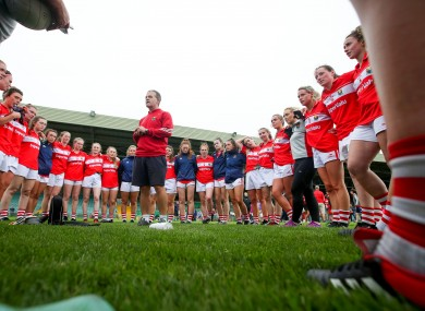 Ephie Fitzgerald with his Cork team.