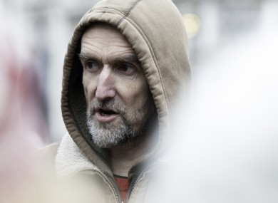 Extinction Rebellion co-founder Roger Hallam seen at a demonstration last year