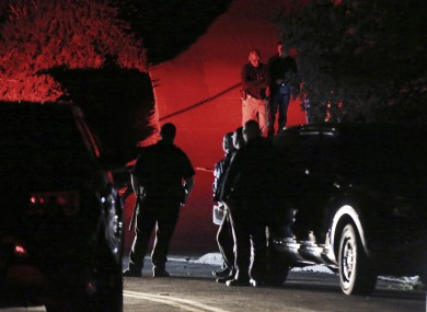 Police investigating the shooting in Orinda, California on Thursday