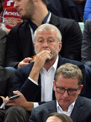 Roman Abramovich at last season's Europa League final in Baku.