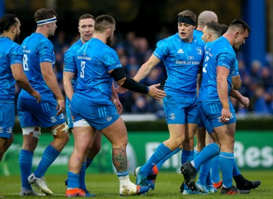 Garry Ringrose after scoring his second try against Benetton.