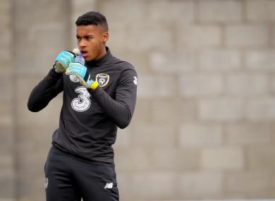 Gavin Bazunu is set to make his Ireland U21 debut.