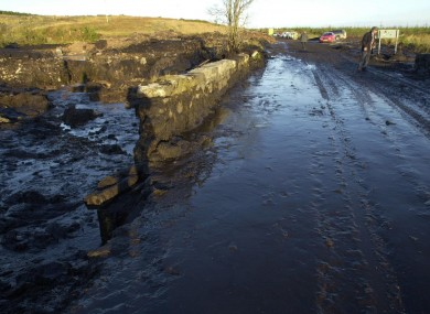Sludge from works at a wind farm above Derrybrien in Co Galway