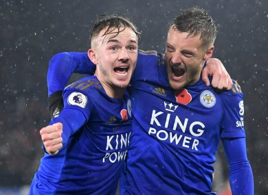 Ben Chilwell and Jamie Vardy have helped propel Leicester to second in the table.