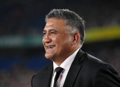 Jamie Joseph at the 2019 Rugby World Cup.