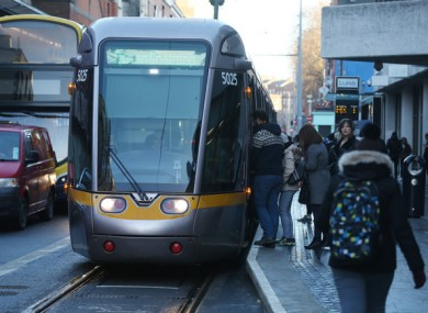 File photo of the Luas.
