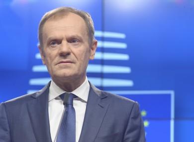 European Parliament President Donald Tusk