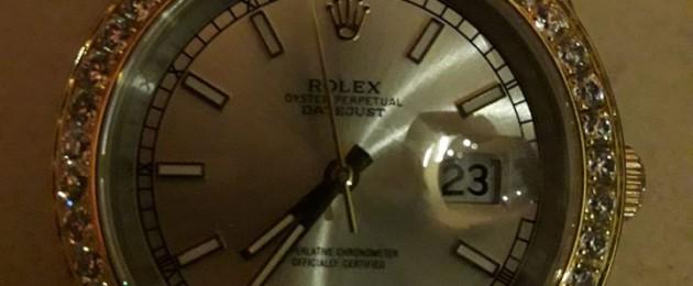 Seized Rolex.