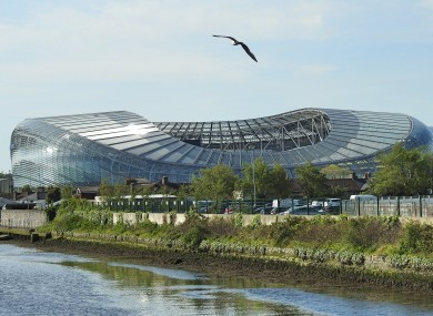 The Aviva Stadium at Lansdowne Road.