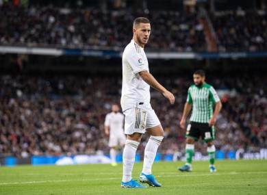 Eden Hazard of Real Madrid during the match.