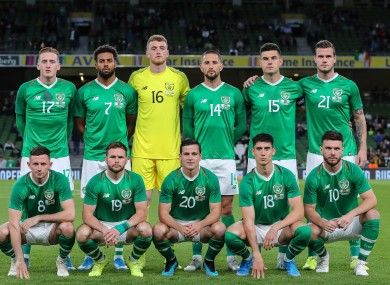 Above is an image of the Irish team that faced Bulgaria.