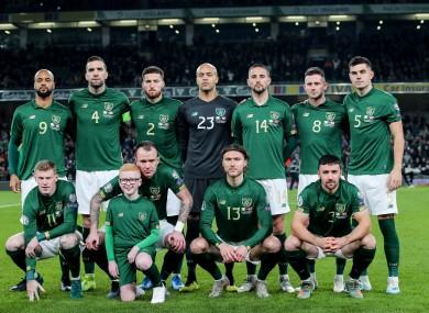 The Irish team (file pic).