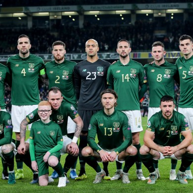 The Irish team (file pic).