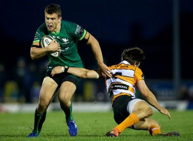 Farrell makes a break against the Cheetahs.
