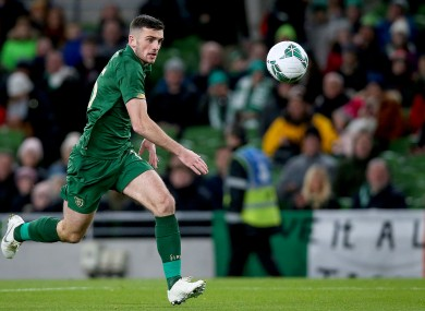 Parrott on the ball for Ireland against New Zealand.