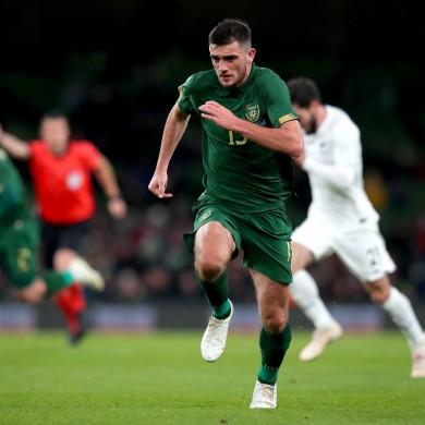 Parrott in action for Ireland's senior side against New Zealand.