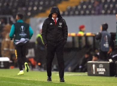 Pressure is mounting on Unai Emery.
