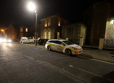 Gardai at the scene of the assault in Arklow, Co Wicklow, in the early hours of this morning.