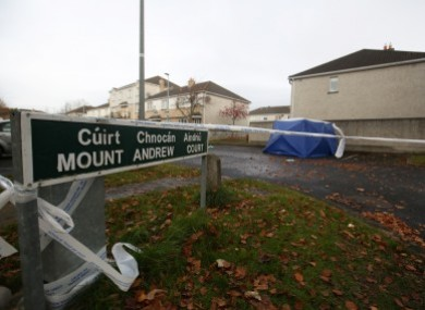 The scene of the crime in Mount Andrew Court.