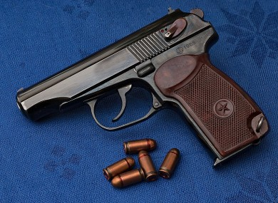 A fully loaded Makarov handgun was found during the operation, file photo.