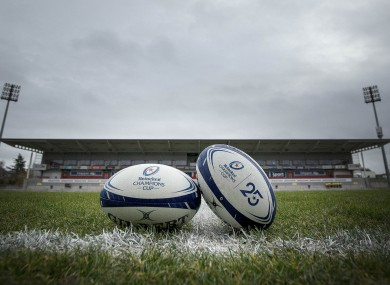 Kingspan Stadium before kick-off against Harlequins this month.