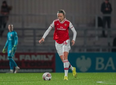 Ireland defender Louise Quinn lining out for Arsenal in this season's Champions League.