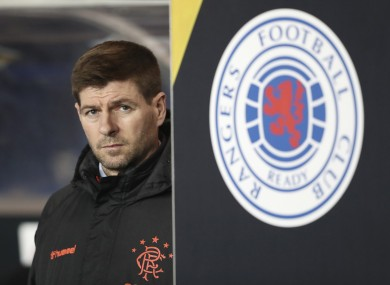 Rangers manager Steven Gerrard pictured during last night's Europa League game against Young Boys.