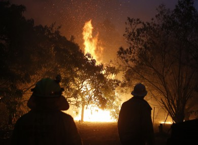A fire near the Pacific Highway, north of Nabiac in the Mid North Coast region of New South Wales.