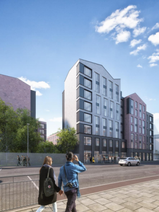 CGI Image Showing the Northern Elevation of Block C from St Luke's Avenue