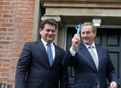Former TD Dara Murphy with former Taoiseach Enda Kenny.