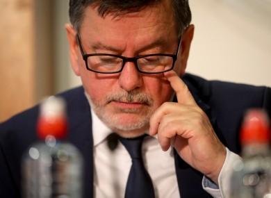 Outgoing FAI President Donal Conway.