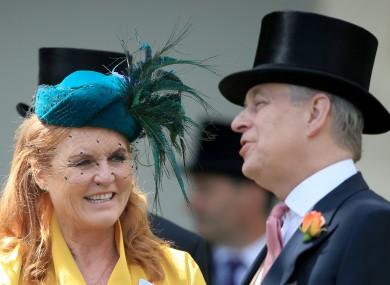 Sarah, Duchess of York and the Duke of York.
