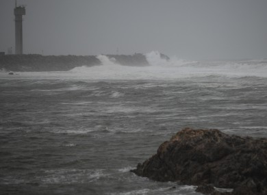 Storm Elsa lashing northern Portugal.