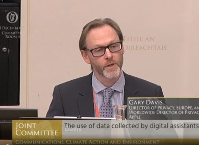 Apple's director of privacy in Europe Gary Davis.
