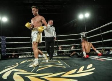 Paddy Donovan scores a walk-off KO over Oscar Amador.