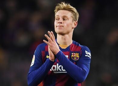Barcelona star De Jong.