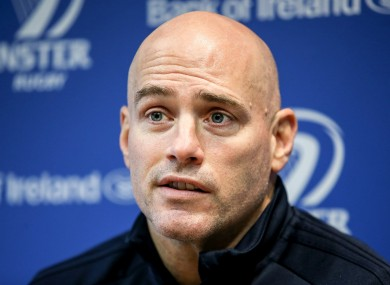 Felipe Contepomi speaking at Leinster's press conference ahead of their trip to Thomond Park.