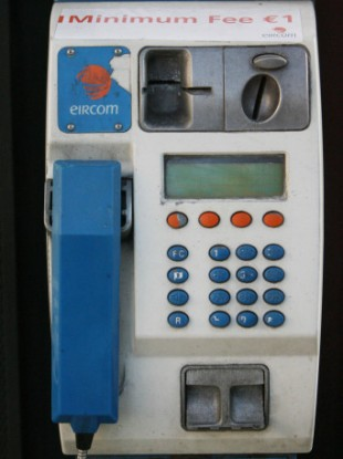An Eircom phone box in Dublin's city centre.