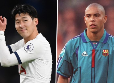 Son Heung-min and Ronaldo (file pic).