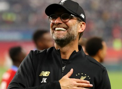 Liverpool manager Jurgen Klopp celebrates after his side's win against Flamengo in the Club World Cup final.