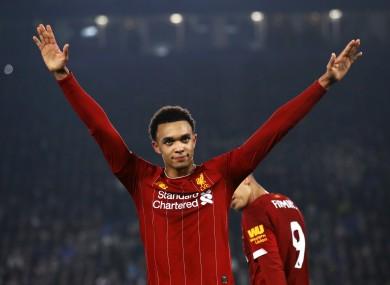 Liverpool's Trent Alexander-Arnold.