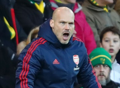 Arsenal interim head coach Freddie Ljungberg