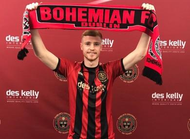 Bohemians' latest signing, Glen McAuley.