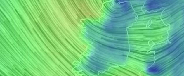 The wind picture over Ireland at around 10pm tonight.