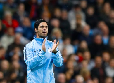 Arteta worked at Manchester City since 2016.